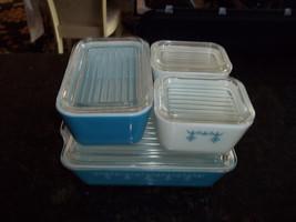 Pyrex Garland AKA Snowflake Refridgerator Boxes 8 piece set 2-501, 1- 0502, 1-50 - $124.99