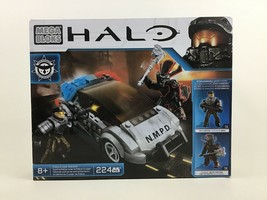 Police Cruiser Standoff NMPD Halo Mega Bloks 224pc Building Toy Set CYY4... - $29.35