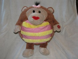 "Vintage Jay at Play Mushabelly Chatter Monkey Plush Lila 16"" Pink Yellow - $39.59"