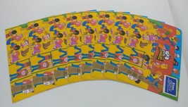 "LOT 8 1978 PRINGLE'S POTATO CHIPS DENIM LAMINATED PLACE MATS 17 1/2 "" X ... - $31.91"