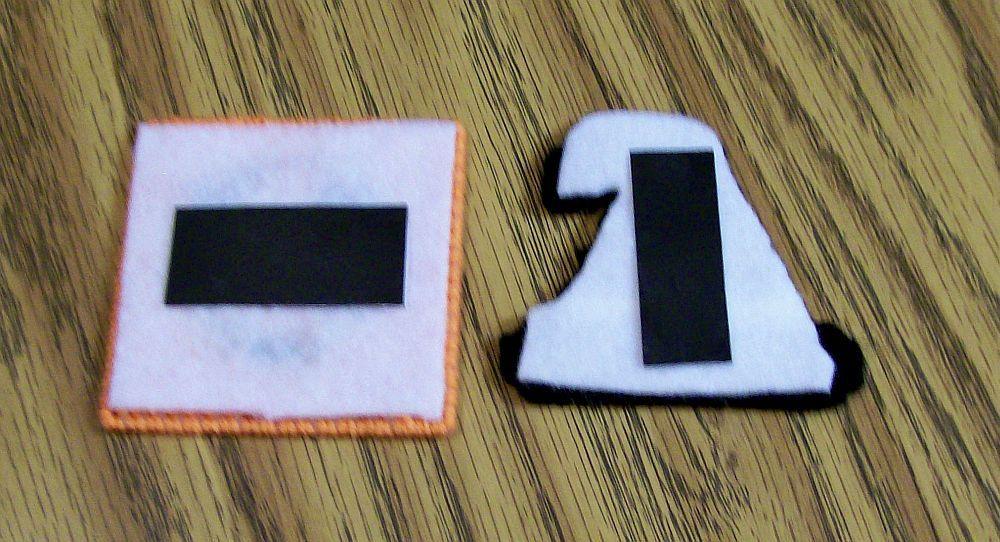 Plastic Canvas Halloween Magnet, Fridge, Needlepoint, Handmade, Holiday