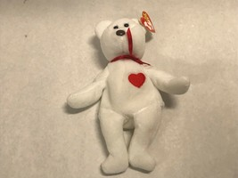 VALENTINO Bear BEANIE BABY w/ Rare ERRORS Mistakes BROWN NOSE + 8 Other ... - $1,583.99