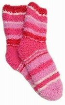 HUE Womens Super Soft Cozy Socks Pink Stripe One Size - NWT
