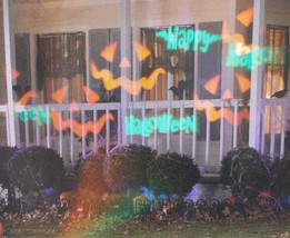 Gemmy LED Lightshow Projection Whirl-a-Motion + Strobe Happy Halloween P... - $12.16