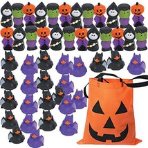 Kids Halloween Trick or Treat Handouts - Variety Pack Rubber Toy Assortment 48 P