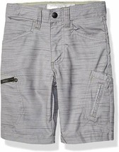 LEE Boys Big Dungarees Grafton Cargo Shorts Gray Summit Slub New Size 12 - $15.83