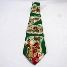 Vintage Robert Talbott Nordstrom Tie Victorian Christmas Santa Silk Made... - $26.99