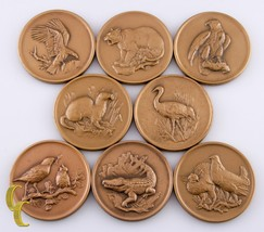 Medallic Art Co Bronze Medals National Wildlife Federation 8 Pieces - $118.80