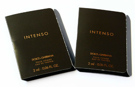 Lot of 2 Dolce & Gabbana  Pour Homme Intenso EDP Sample Spray 2 ml / .06 oz - $7.99