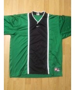 Vtg Nike Soccer Jersey Short Sleeve Shirt Team Sports XL Green White Blk... - $39.59