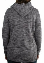 Bench Injection Zip-Up Black White Textured S Hoodie Hooded Cotton Blend Sweater image 2
