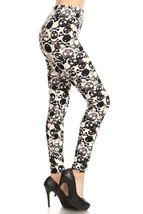 WHITE & BLACK SKULL & CROSSBONES SOFT LEGGINGSUS SELLER - $12.86