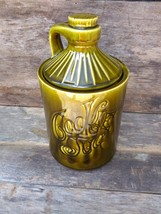 McCoy Pottery Vintage Cookie Jar, Groovy Green 70s Kitchen Decor - $40.00
