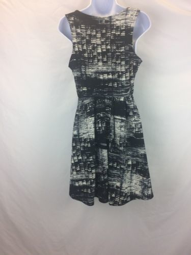 Lush Women's Black White Pattern  Dress M