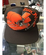 NWOT Vintage Cleveland Browns New Era Mesh Foam Trucker Snapback Hat Cap... - $59.39