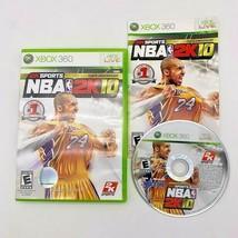 NBA 2K10 (Microsoft Xbox 360, 2009) CIB Complete w/ Manual Kobe Bryant 2... - $8.86