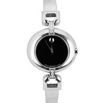 Ladies Movado Stainless Steel Diamond Black Swiss Quartz 27mm Watch 84.A1.1701.S - $324.95