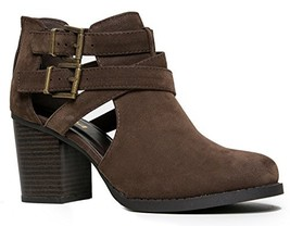 SODA Scribe-S Bootie Boots, Brown Nubuck, 6 - $29.41