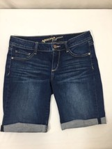 Arizona Women Dark Wash Denim Shorts Cotton Stretchy  5 - $15.88