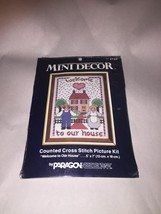 """Vintage mini decor  WELCOME TO OUR HOUSE Counted Cross Stitch Kit 5""""x7"""" - $8.16"""