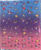 Vintage Lisa Frank Dashly Hummingbird Sticker Sheet Complete Mint Mini Size