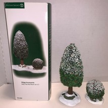 Dept 56 Heritage Village Accessories Holly Tree And Bush Set Of 2  #52901 - $12.50
