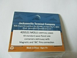 Jacksonville Terminal Company #405521 MOLU 40' Standard Containers N-Scale image 2