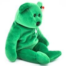1997 Ty Beanie Baby Original Erin Lucky Shamrock Teddy Bear Beanbag Plush Toy image 4