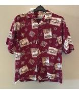 Hilo Hattie Aloha Friday Hawaiian Camp Shirt Woody Wagon Island Life Siz... - $39.97