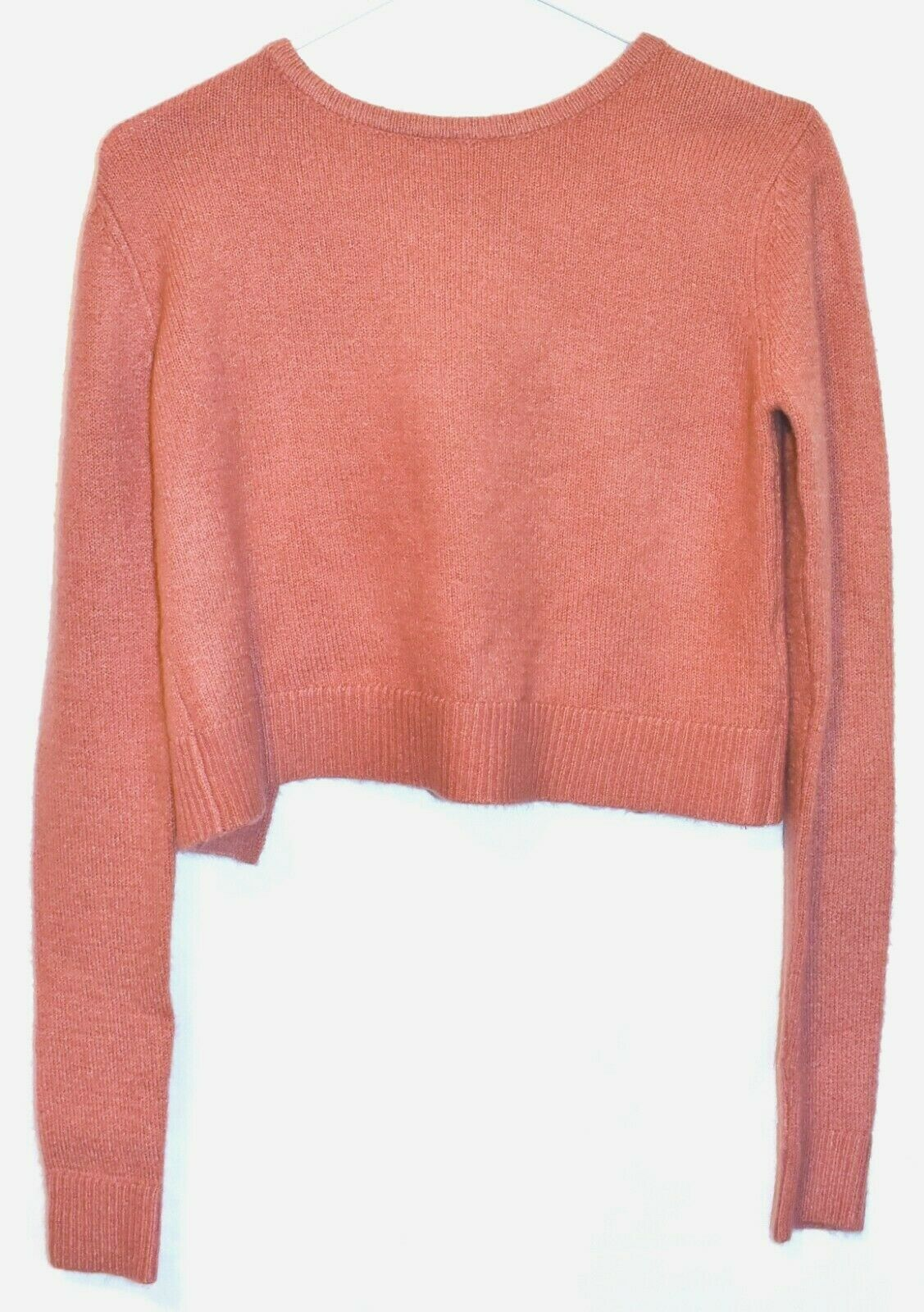 Forever 21 Contemporary Women's Rose Pink Tie-Back Crop Knit Sweater Size S