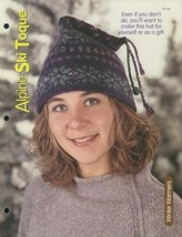 "Alpine Ski Toque Hat 20-24"" Knitting Pattern Leaflet NEW - $2.67"