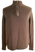 Ralph Lauren Polo Jeans Co. Mens 1/4 Zip Pullover Sweater Brown Sz XL Retro - $27.95