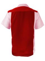Men's Retro Charlie Sheen Two Tone Guayabera Bowling Dress Shirt w/ Defect - L image 2