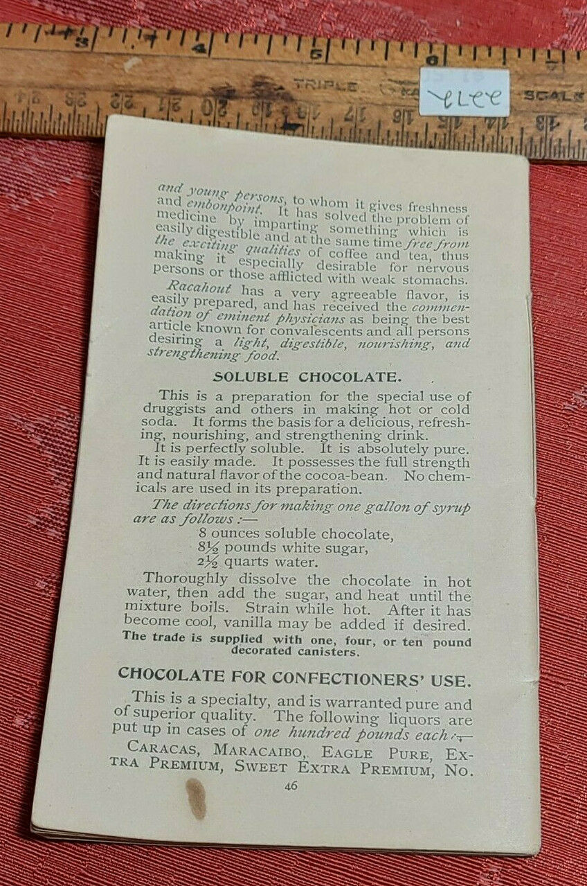 Vintage Cocoa Cookbook of Recipes, Tips and Information Paper Pamphlet