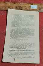 Vintage Cocoa Cookbook of Recipes, Tips and Information Paper Pamphlet image 1