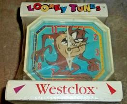 Looney Tunes Vintage TAZ Alarm Clock Tazmanian Devil Westclox Warner Bro... - $45.00