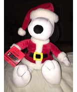 "Hallmark Santa Snoopy  Plush  Peanuts Collection  15""   NWT  New - $14.99"