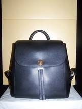 MICHAEL KORS TURN LOCK  RIVINGTON MD BACKPACK LEATHER BLACK COLOR NWT $298 - $138.55