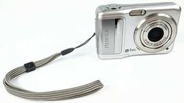 FujiFilm A850 8.1MP 3x Zoom AA Battery Digital Camera Silver Tested Working - $22.87
