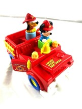 AS IS Vintage Mickey Mouse Fire Truck Toy - $49.50