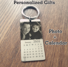 Personalized Custom Photo Calendar Love Keychain for Couple Anniversary ... - $68.50