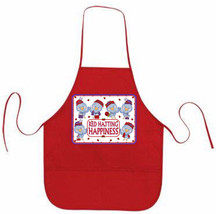RED APRON CUSTOM RED HAT HAPPY BLUE BIRDS FOR LADIES OF SOCIETY TEAS OR ... - $18.55