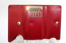 Auth Louis Vuitton monogram Vernis leather  4 Key Case key holder Spain CA3088 - $90.29