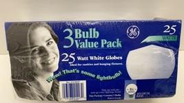GE Lighting  25 watts G25  Incandescent Bulb  180 lumens Soft White  Globe  3 pk - $9.85