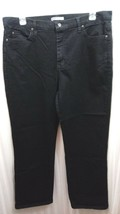 Lee Relaxed Fit At The Waist Black Ladies Flat Front Pants Size 18 medium - $8.68