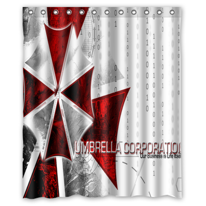 Resident Evil Umbrella Corp #02 Shower Curtain Waterproof Made From Polyester
