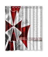Resident Evil Umbrella Corp #02 Shower Curtain Waterproof Made From Polyester - $42.30 - $46.30