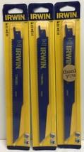"""(New) IRWIN 372966  9"""" 6TPI Reciprocating Saw Blades BI-Metal  Lot of 3 - $19.79"""