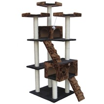 Kitty Cat Family Tree House Scratching Post Perch Condo Play Area Hang O... - £129.39 GBP