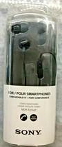 Sony Earbud w/MIC (Black) Headphones (MDR-EX15AP)*BRAND New In Retail Box!! - $17.75